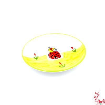 Gyerek tányér katica mintával