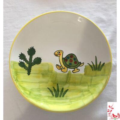 Gyerek tányér teknőc mintával