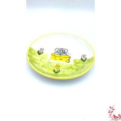 Gyerek tányér kisegér mintával