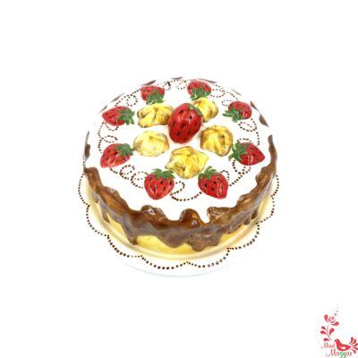 Szülinapi tortatál kerámiából